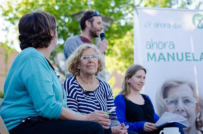 Madrid's mayor Manuela Carmena