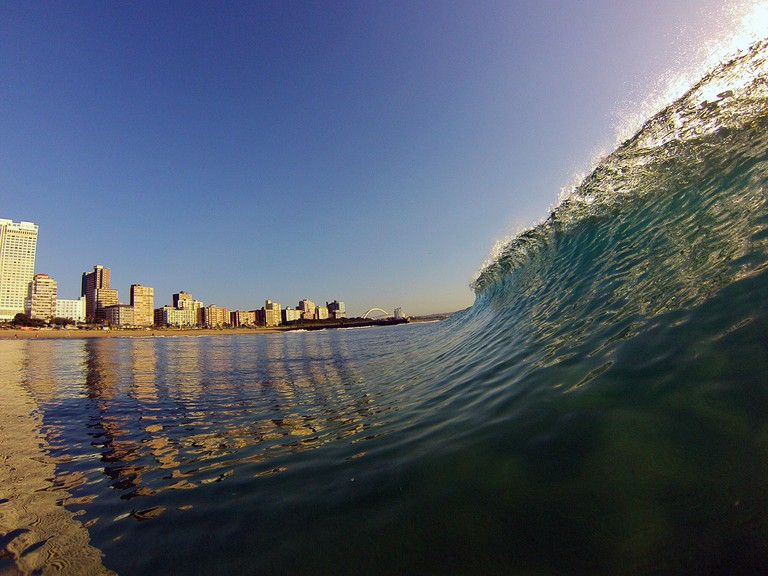 Big waves in Durban