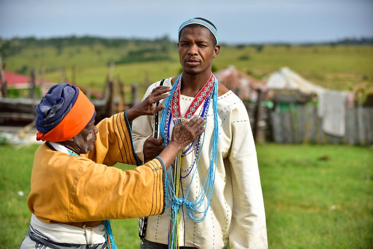 A Xhosa man in traditional garb, Eastern Cape