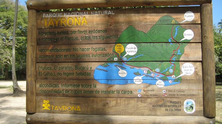 Tayrona National Park Map © Sergejf / Flickr