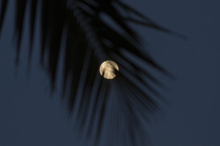 A full moon in Tahiti