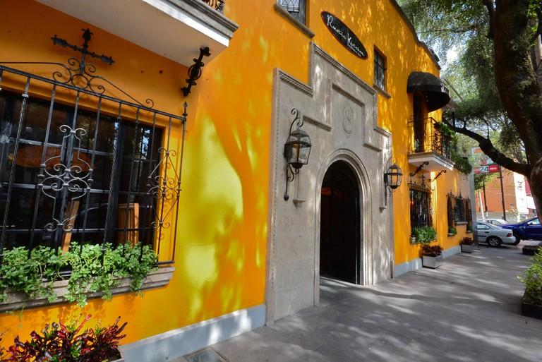 Vibrant orange in Condesa