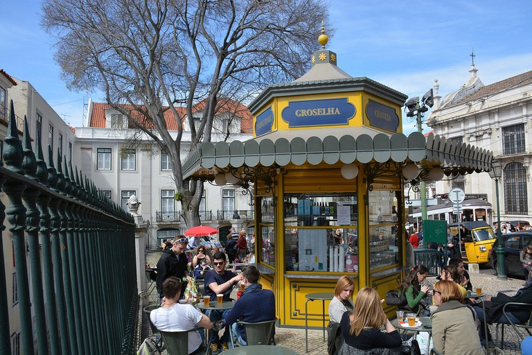 Lisbon's kiosks are popular places to press pause and relax