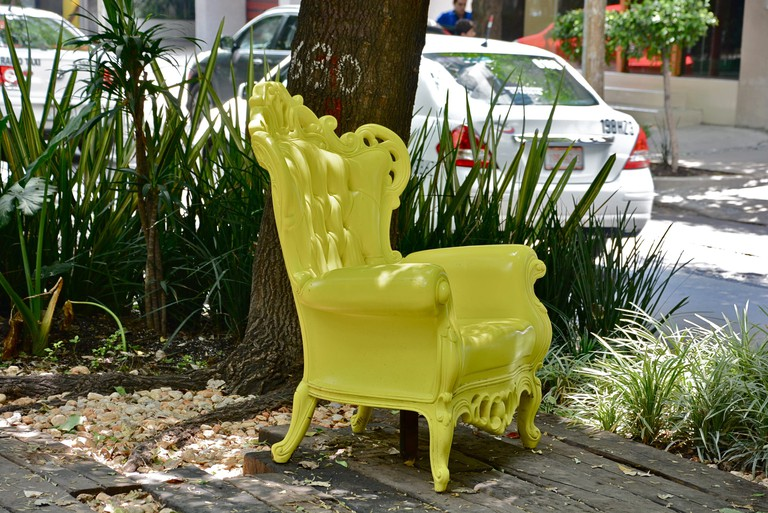 Unexplained yellow chair