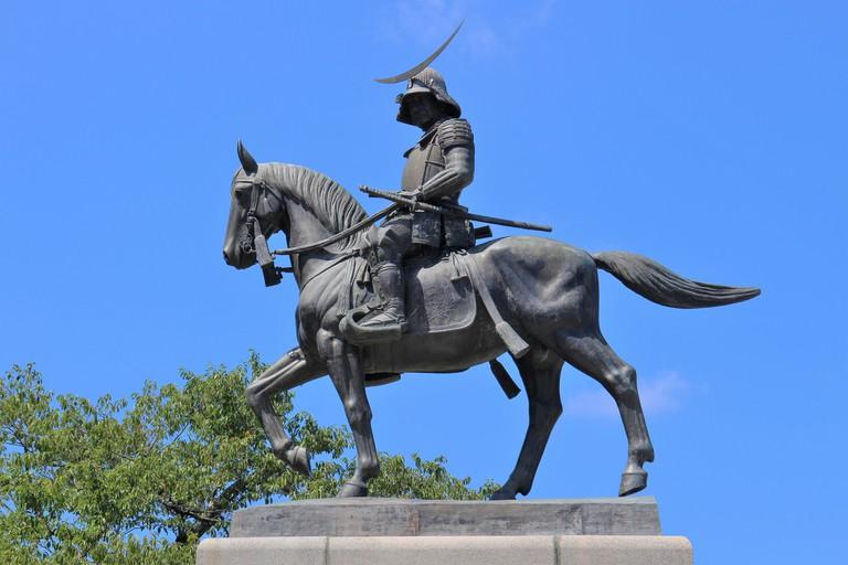 伊達政宗騎馬像(北側)(Date Masamune Statue, North Side)