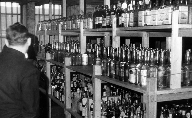 Various spirits for sale at Alko