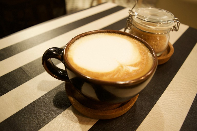 Latte at Goodfellas Cafe and Hostel