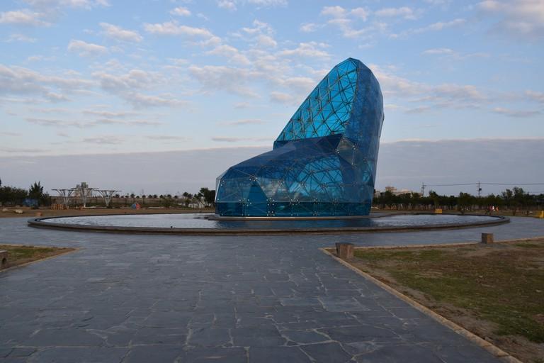Blue shoe church