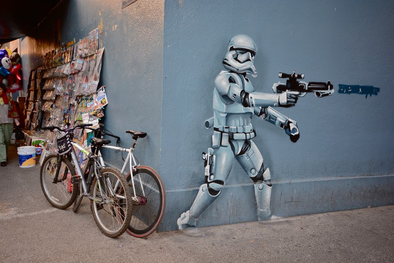 Quirky street art in Condesa