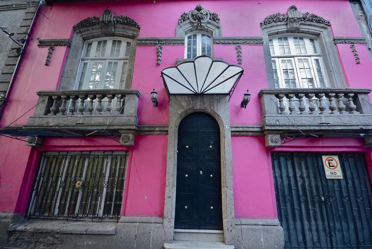 Pink facades in Condesa