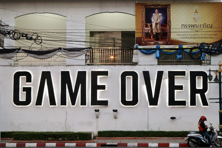 Game Over sign in Thonglor