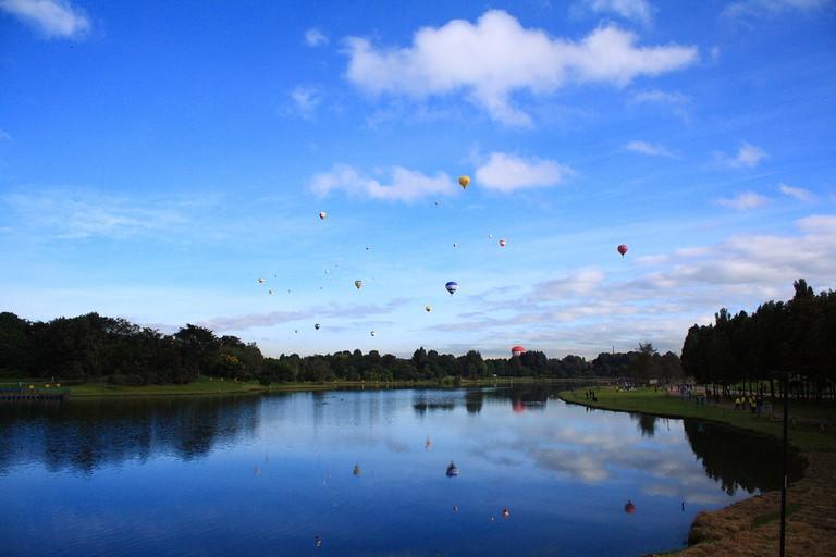 Hot Air Balloons Over Simon Bolivar Park