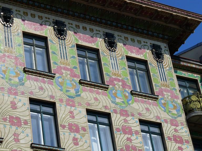 Otto Wagner Jugendstil apartments on Vienna's linke Wienzeile, along the Naschmarkt