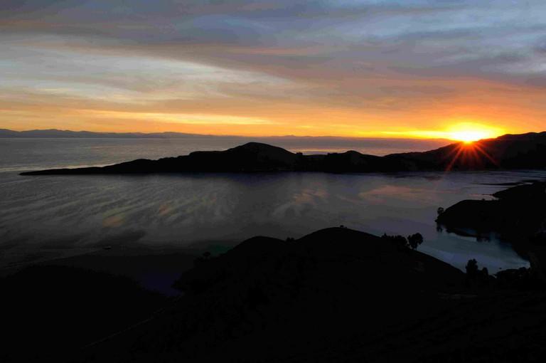 Sunset at Isla del Sol
