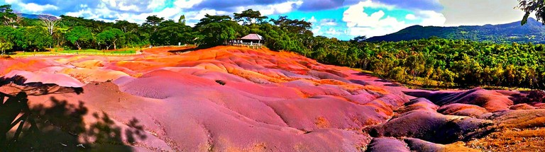 Chamarel coloured earths