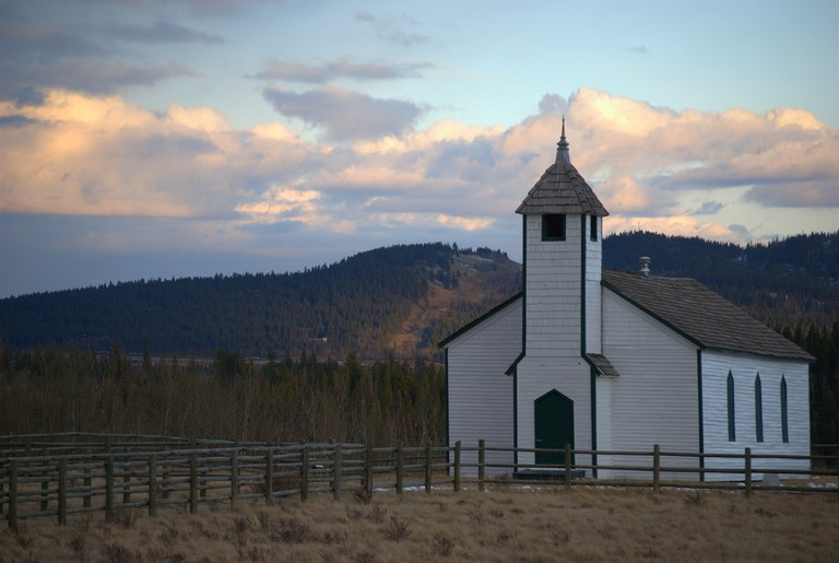A missionary church on Tsuut'ina Nation's Reserve in Alberta