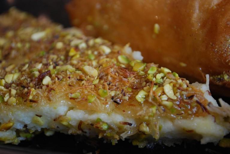 Kunafi - close-up - Oasis Bakery AUD4