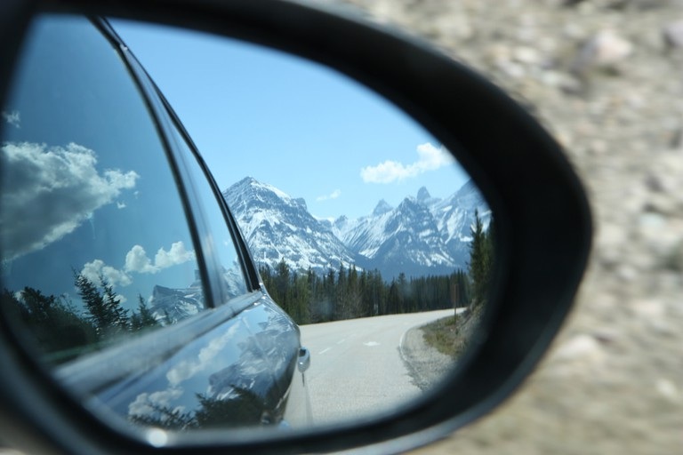 Driving through Jasper National Park
