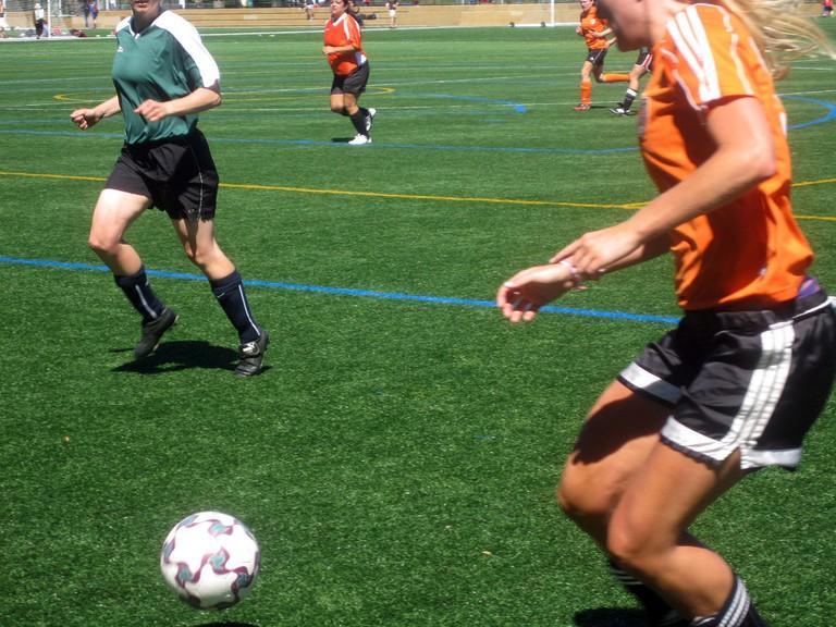 Join a co-ed soccer team