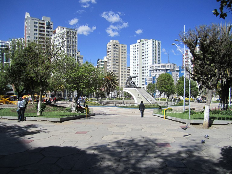 Plaza Avoroa in La Paz is dedicated to Eduardo Avoroa