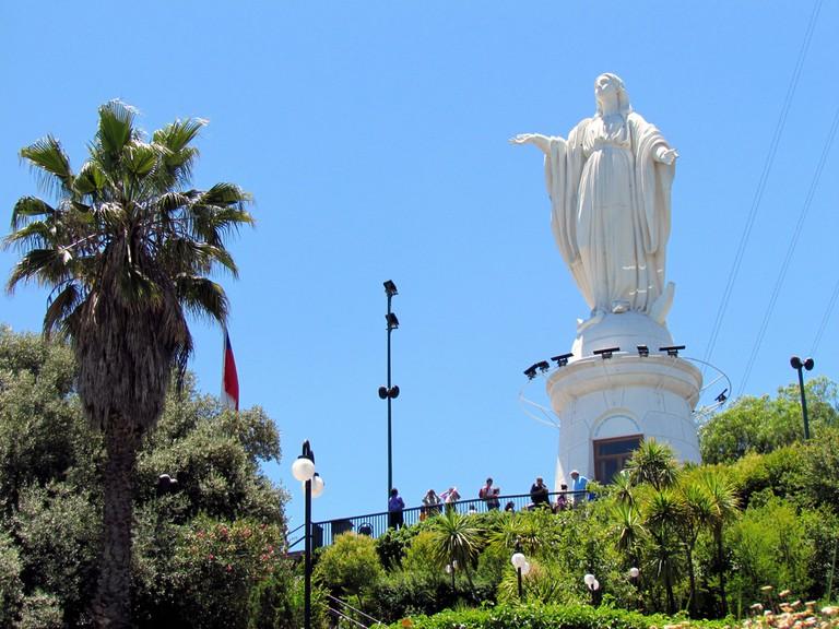 Virgen de la Immaculada – Immaculate Virgin Statue – Cerro San Cristobal – Santiago, Chile