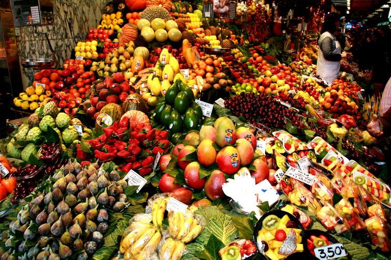 Discover the abundance of produce at the Boqueria