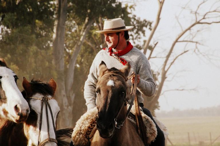 Guacho on horseback