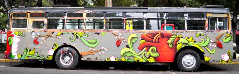Painted bus in Roma