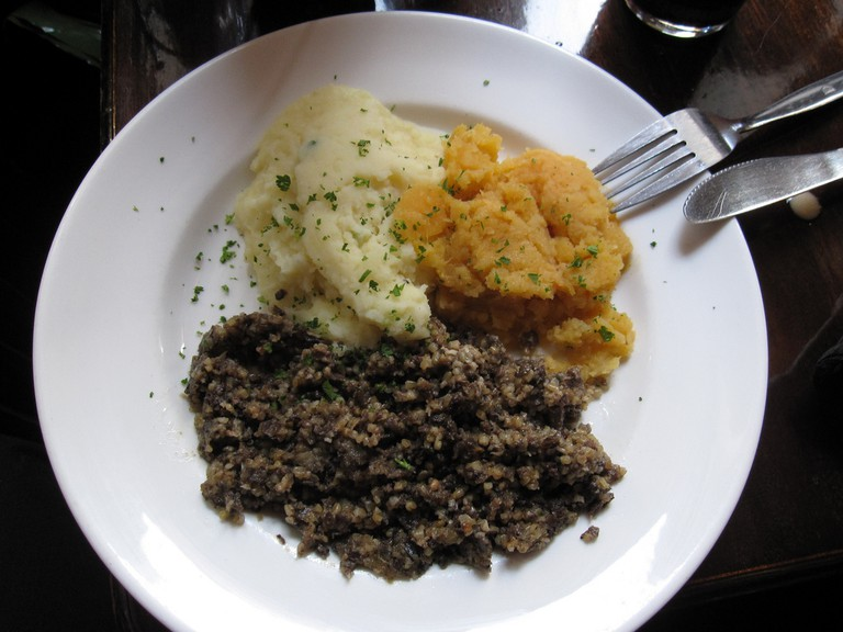 Go Scottish with a plate of haggis
