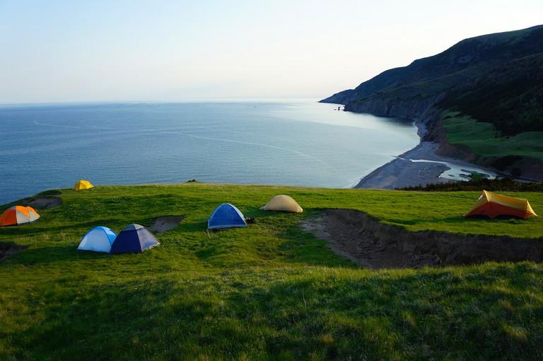 Camping in Cape Breton National Park, Nova Scotia