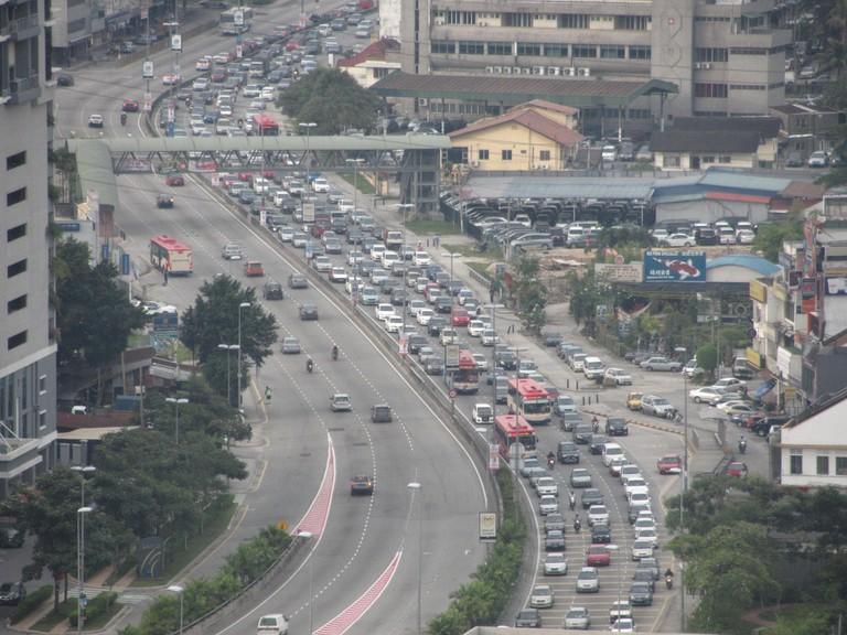 Traffic jam on Old Klang Road