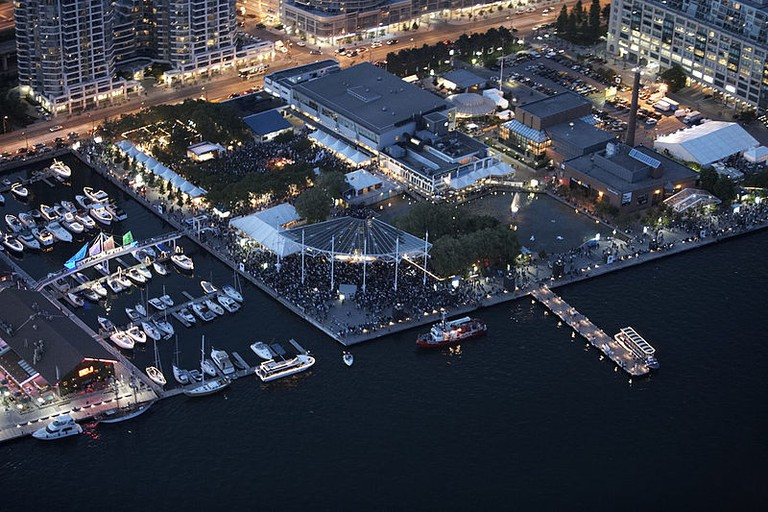 Aerial shot of Harbourfront Centre