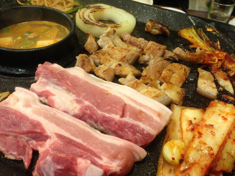 Samgyeopsal, tasty barbecued pork belly