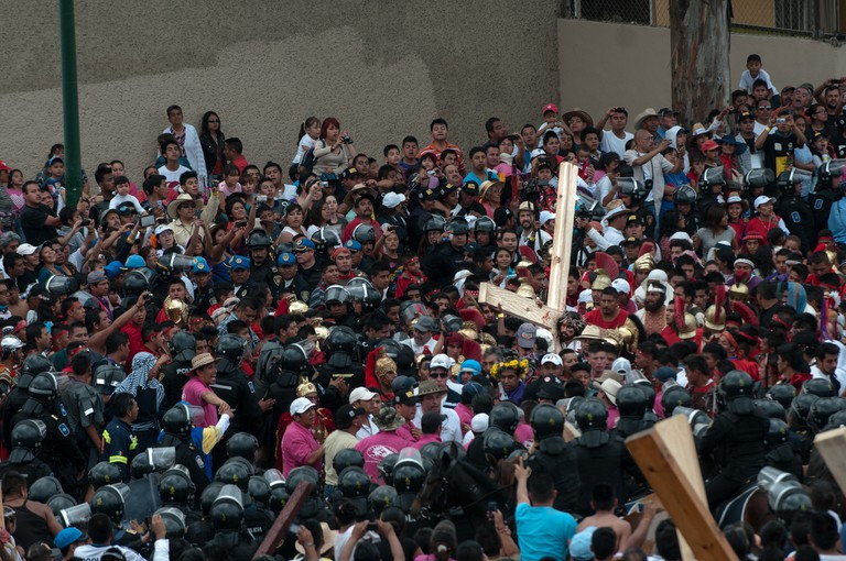 Easter celebrations in Iztapalapa, Mexico City