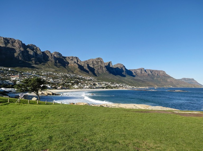 Victoria Drive runs along the coast below the Twelve Apostles pictured here
