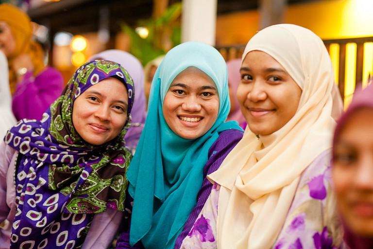 Malay women normally wear a hijaab or headscarf
