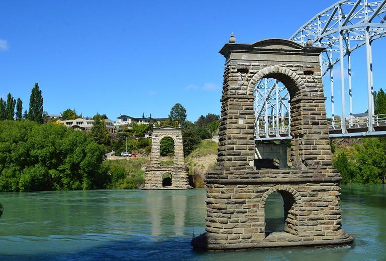 Old Bridge Piers in Alexandra, New Zealand