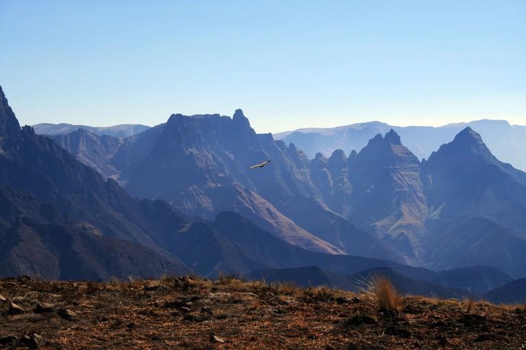 Cathedral Peak mountain range