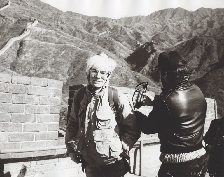 Andy Warhol at the Great Wall, 1982 | Courtesy of Phillips