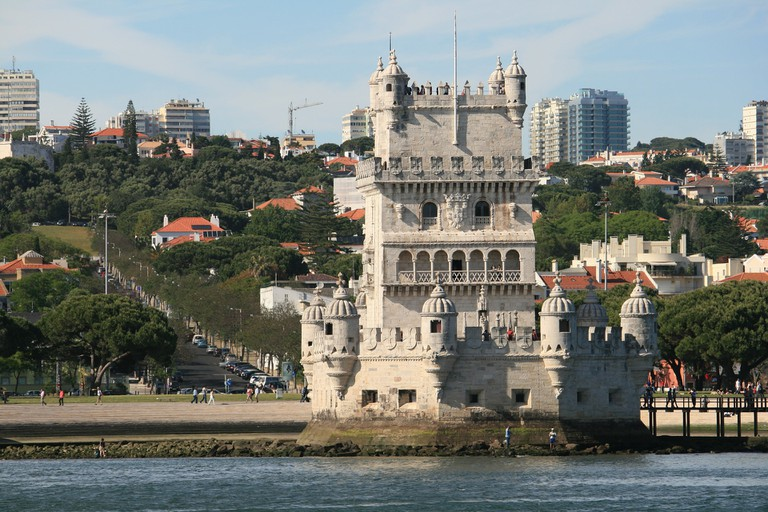 Walking and running past landmarks like the Belém Tower is a perk of freelancing in Lisbon