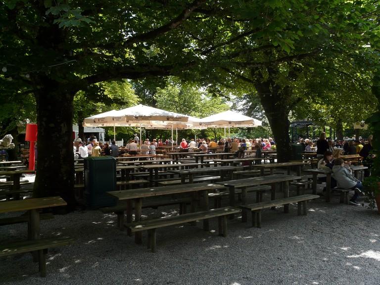 Biergarten Waldwirtschaft München