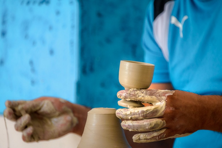 Hand-made Moroccan ceramics
