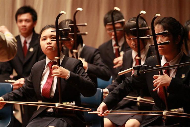 Erhu players at Yishun Junior College, Singapore