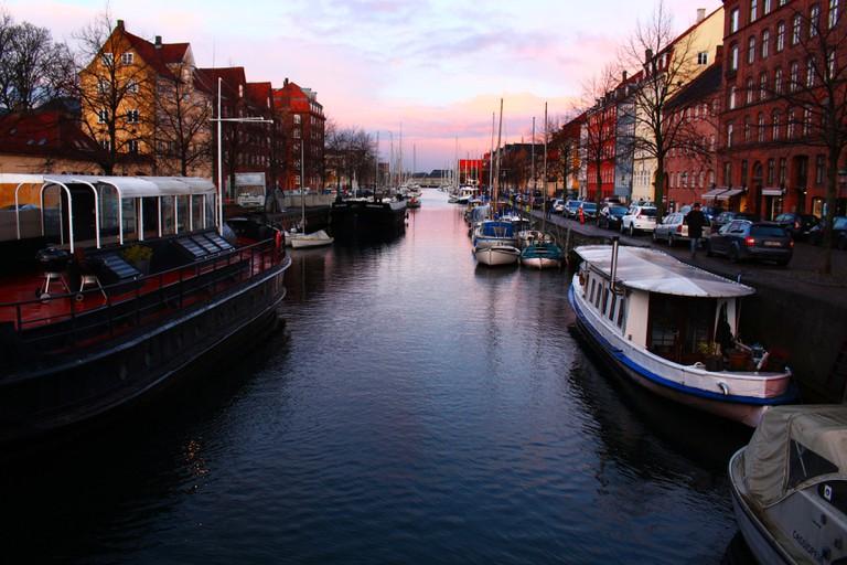 Christianshavn Canal in sunset