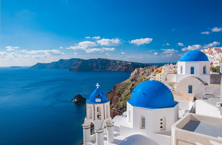 Iconic architecture in Santorini