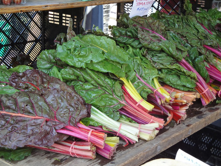 Colorful Chard on Display at Takoma Park Farmers Market