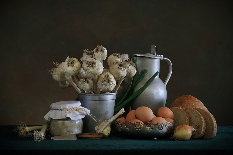 On St. Andrew's Day garlic is more precious than flowers