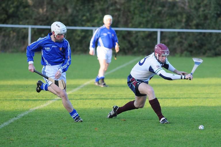 Irish hurling in action