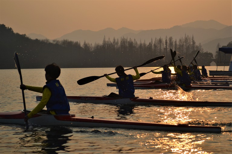 Kayaking on West Lake