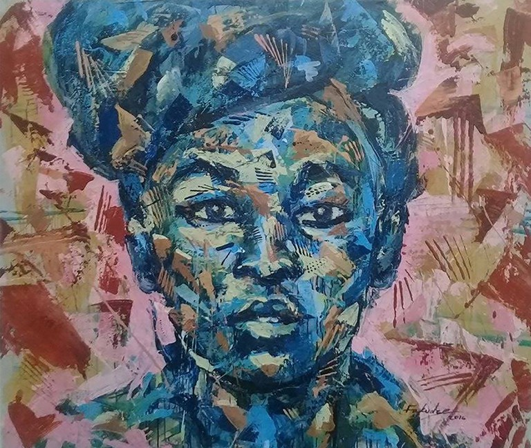 Mbongeni Fakudze, Blue?, Acrylic on Canvas